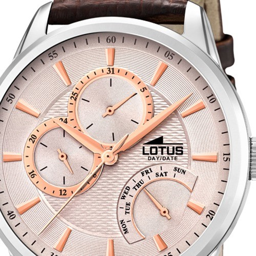 Braun Quarz Lotus Herren Leder Multifunktion 159747 Armbanduhr Ul159747 OkXTwuiPZl