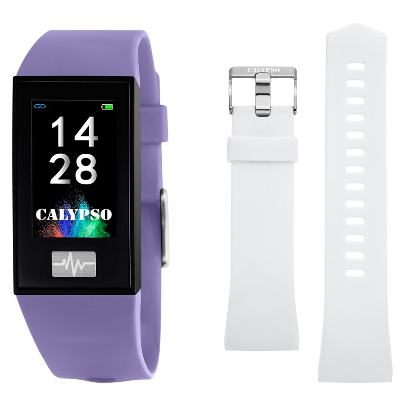Calypso Fitness Tracker Smartime K8500-2 Smartwatch lila, weiß TCK8500-2