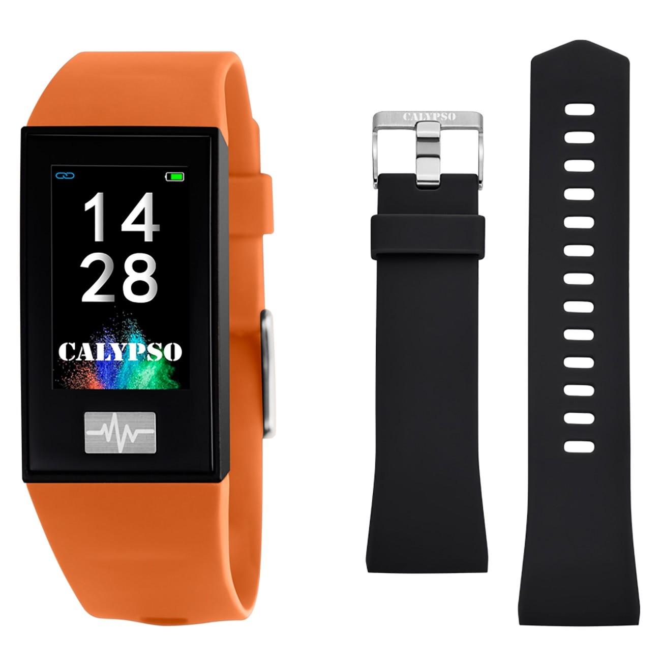 Calypso Fitness Tracker Smartime K8500-3 Smartwatch orange, schwarz TCK8500-3