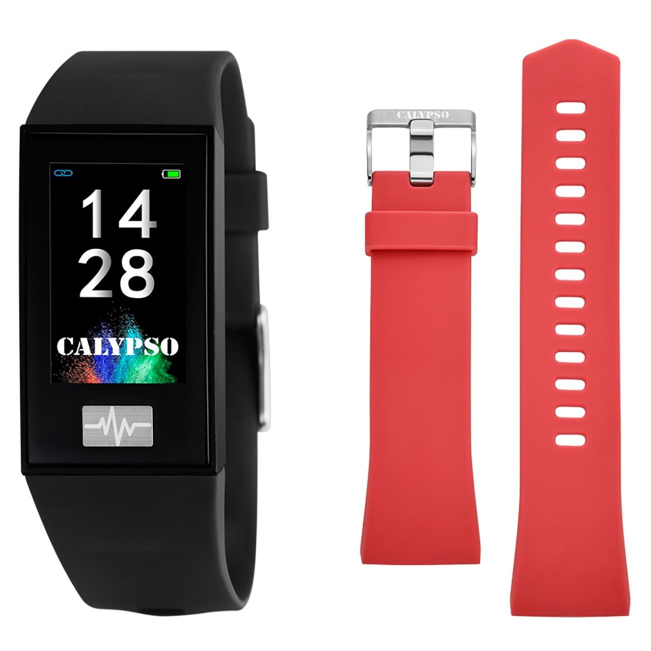 Calypso Fitness Tracker Smartime K8500-6 Smartwatch schwarz, rot TCK8500-6