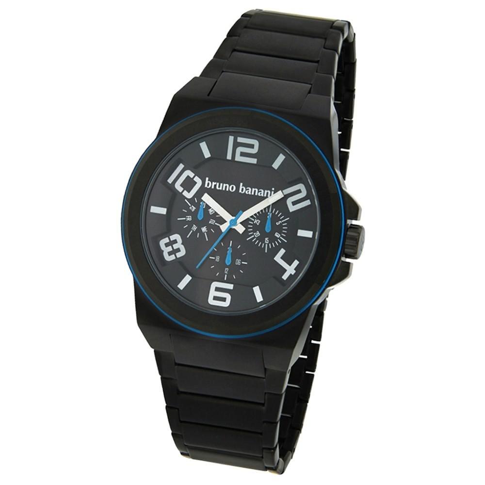 Bruno Banani Herren Uhr schwarz-blau Zelos Uhren Kollektion UBR21125