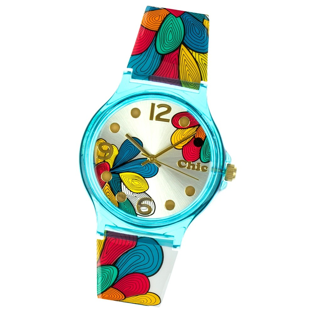 Chic-Watches Damenuhr Blumen Armbanduhr Chic Lady-Kollektion UC003