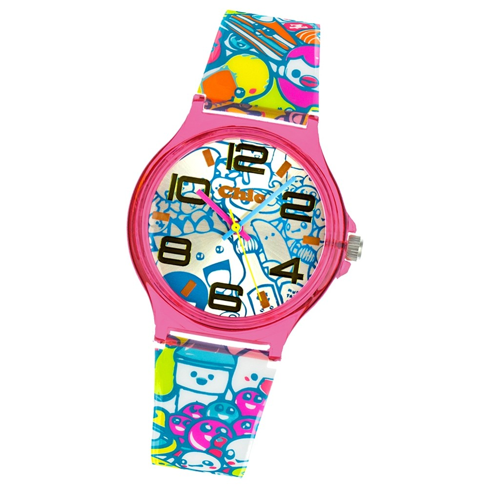 Chic-Watches Damenuhr Manga Style Kitty Armbanduhr Chic Lady-Uhr UC030
