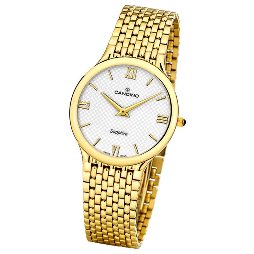 Candino Herren-Armbanduhr Timeless analog Quarz Edelstahl Gelbgold PVD UC4363/2