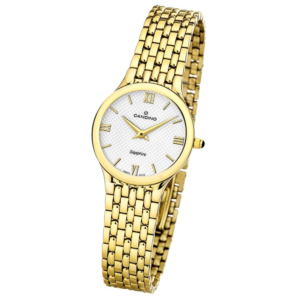 Candino Damen-Armbanduhr Timeless analog Quarz Edelstahl Gelbgold PVD UC4365/2