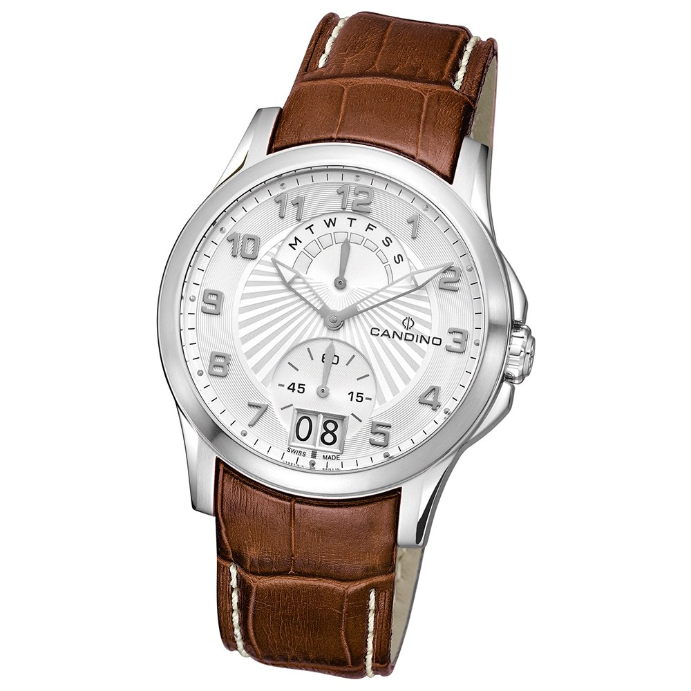 Candino Herren-Armbanduhr After Work analog Quarz Leder UC4387/A