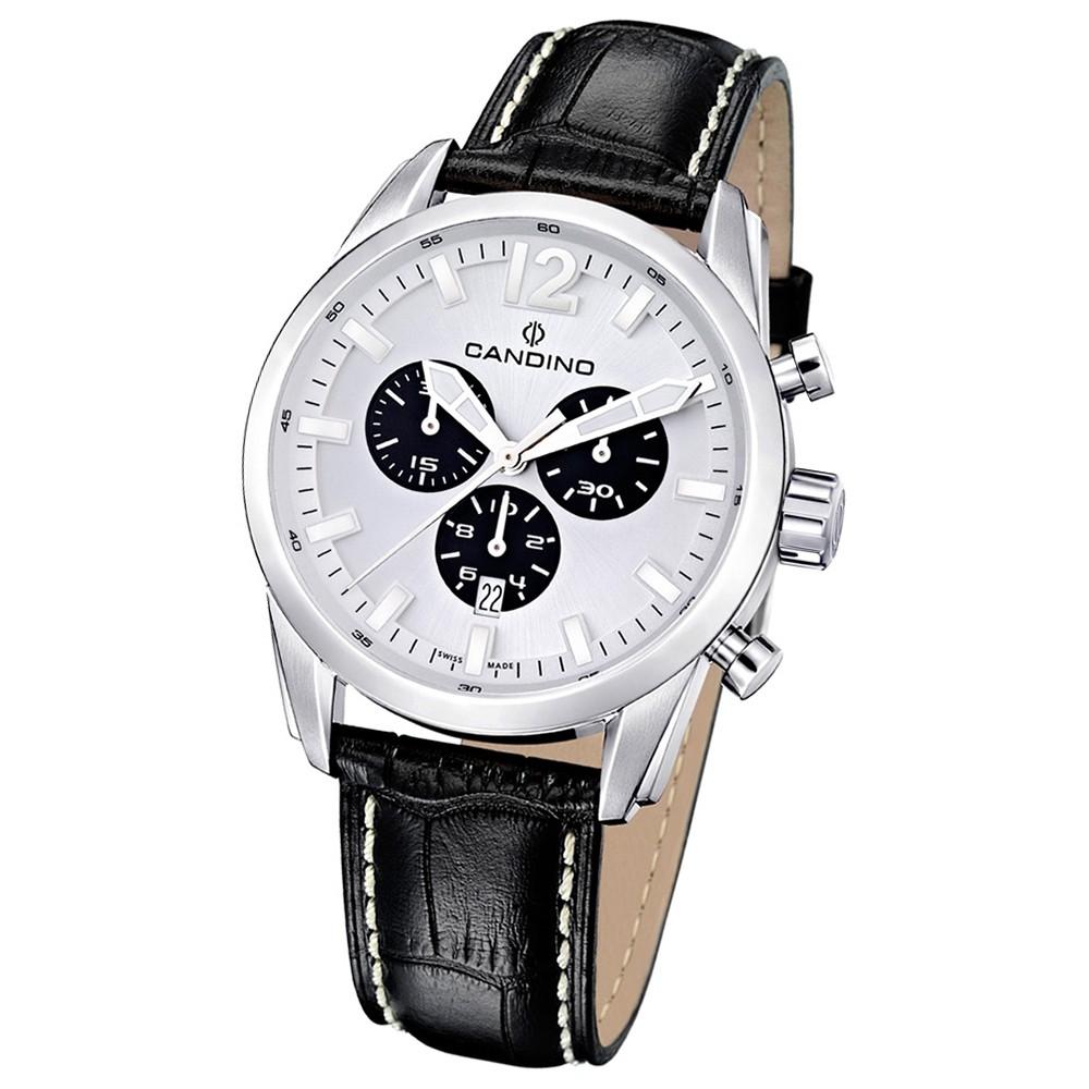 Candino Herren-Armbanduhr Athletic Chic Chronograph Quarz Leder UC4408/A