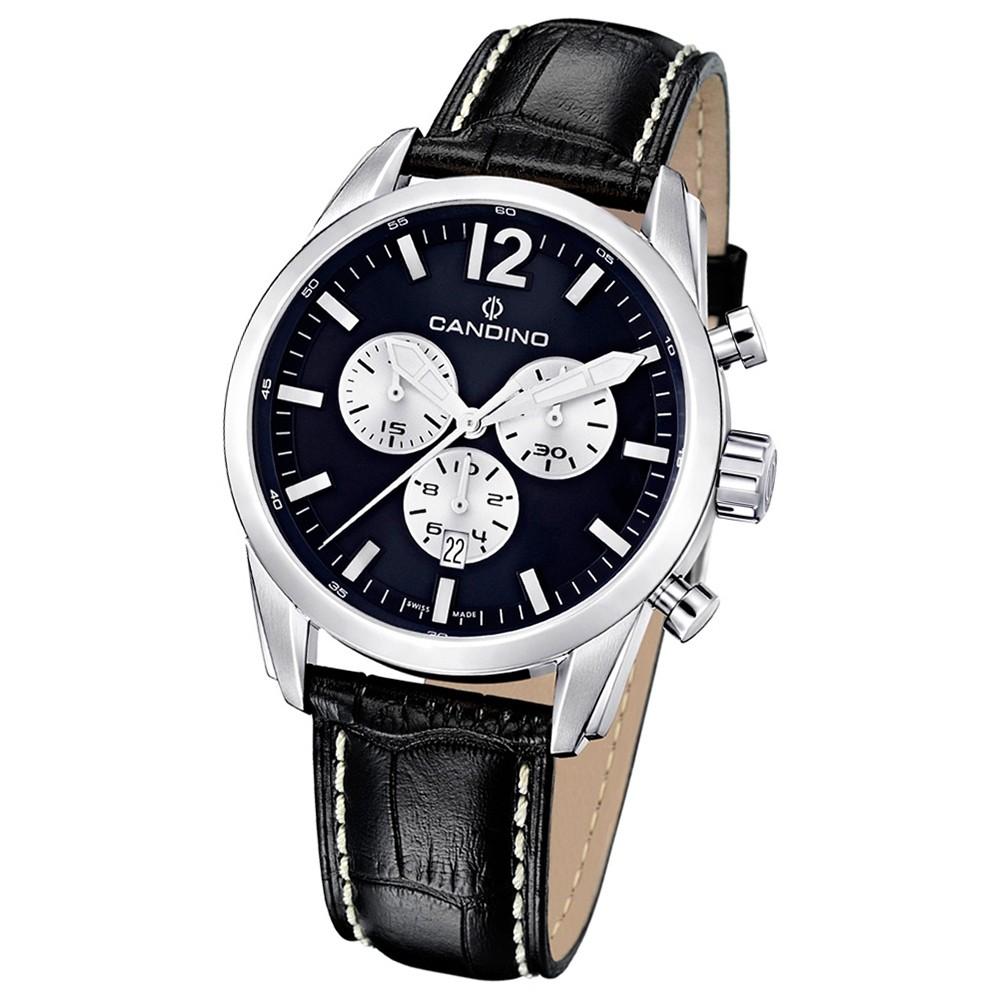 Candino Herren-Armbanduhr Athletic Chic Chronograph Quarz Leder UC4408/B