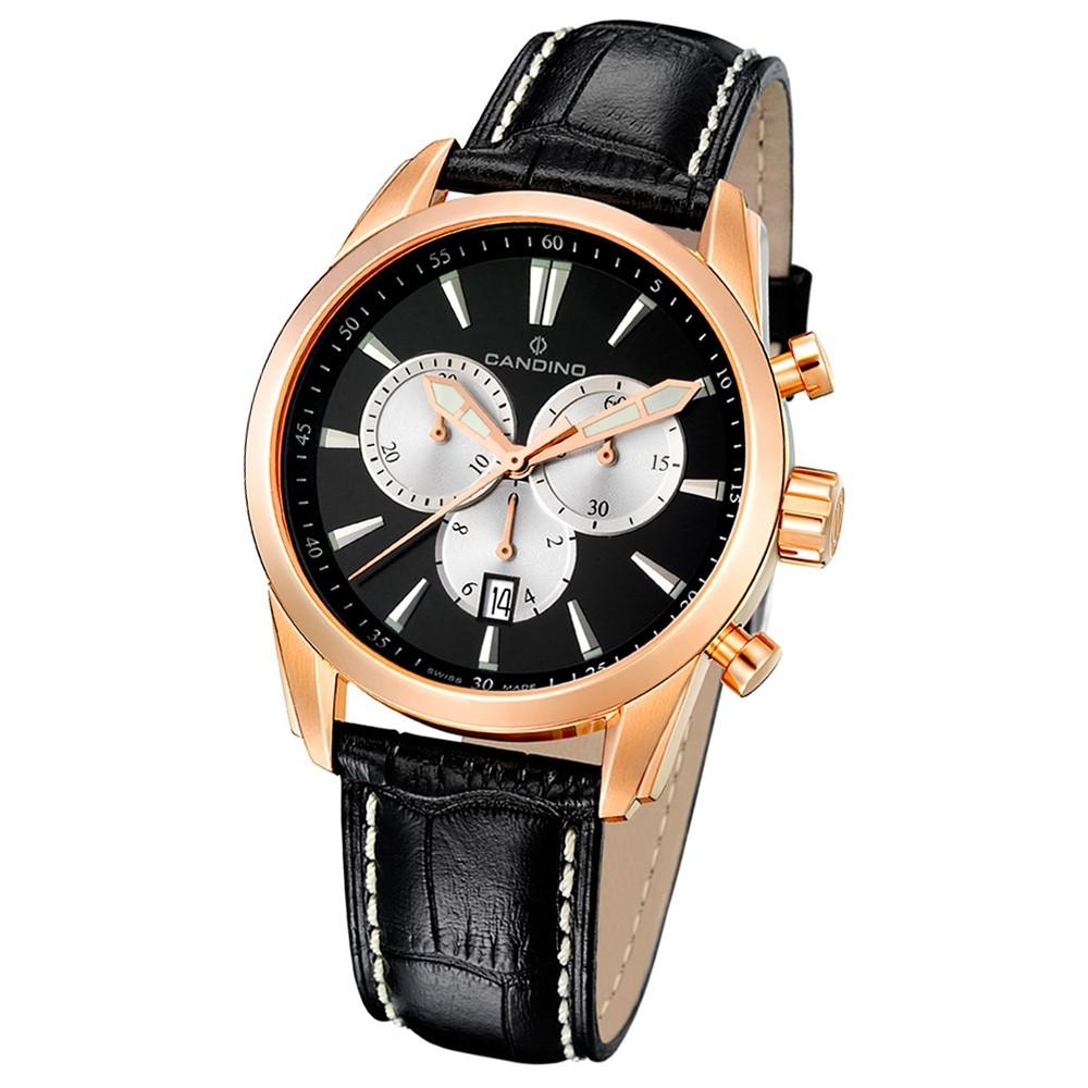 Candino Herren-Armbanduhr Athletic Chic Chronograph Quarz Leder UC4409/6