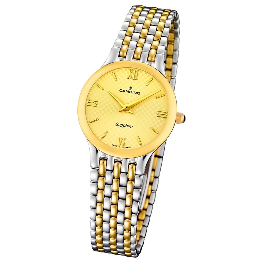 Candino Damen-Armbanduhr Timeless analog Quarz Edelstahl 316 L Bicolor UC4415/2