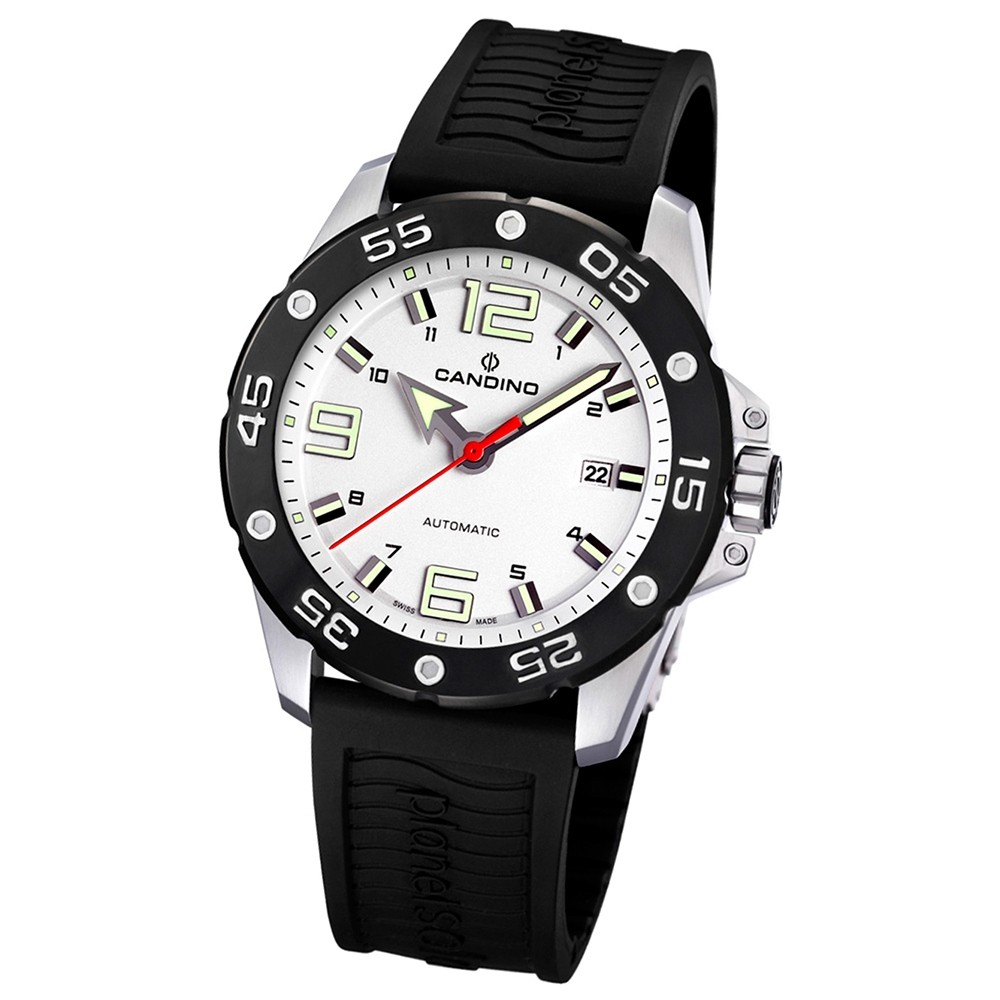 Candino Herren-Armbanduhr Planetsolar analog Automatik PU UC4453/1