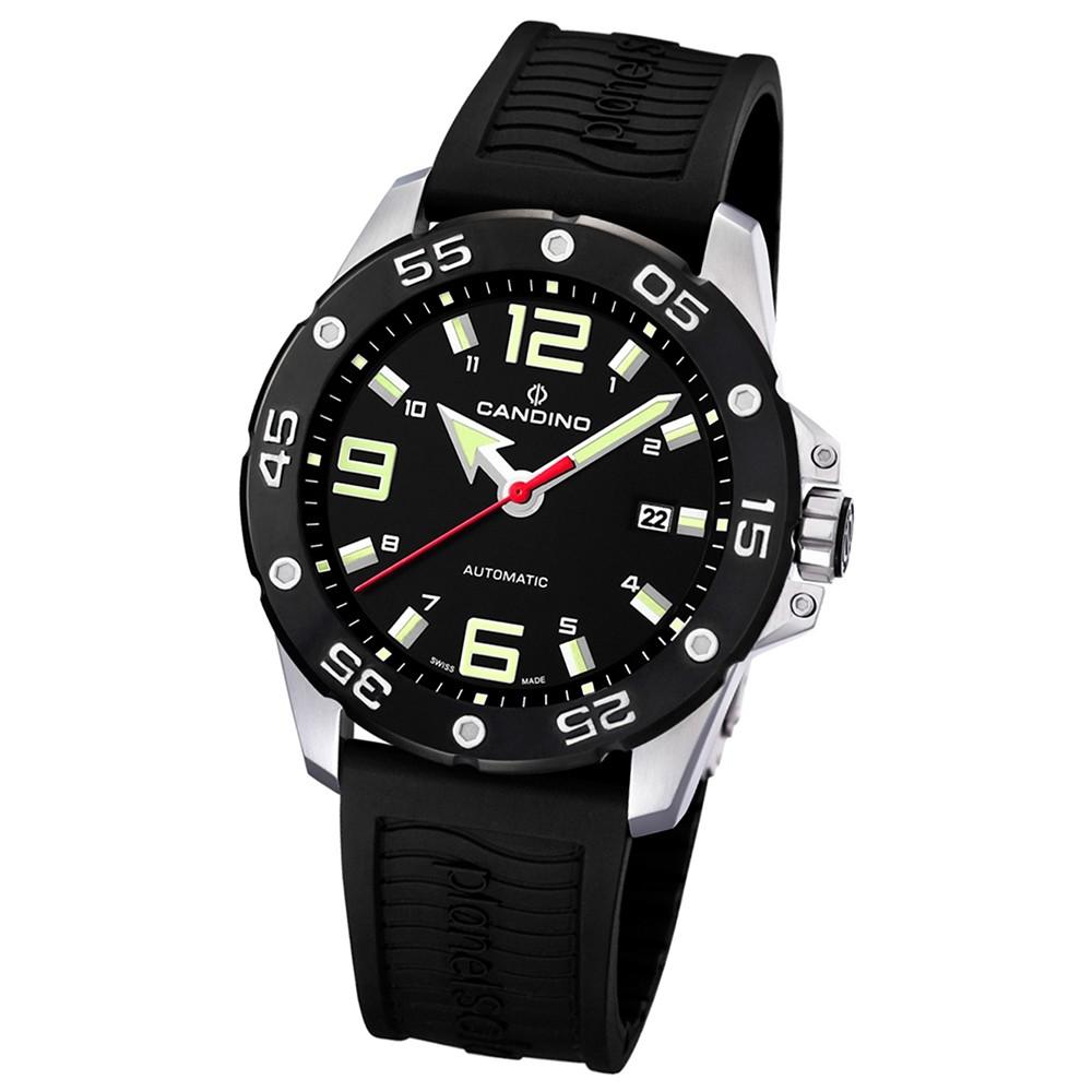 Candino Herren-Armbanduhr Planetsolar analog Automatik PU UC4453/2