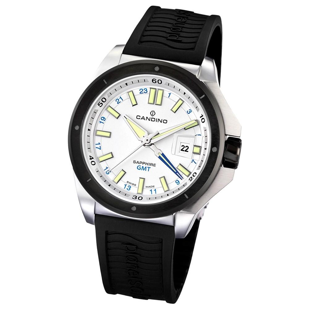 Candino Herren-Armbanduhr Planetsolar analog Quarz PU UC4473/1