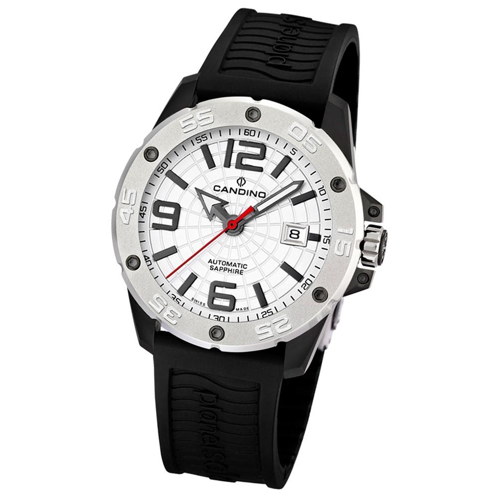 Candino Herren-Armbanduhr Planetsolar analog Automatik PU UC4474/1