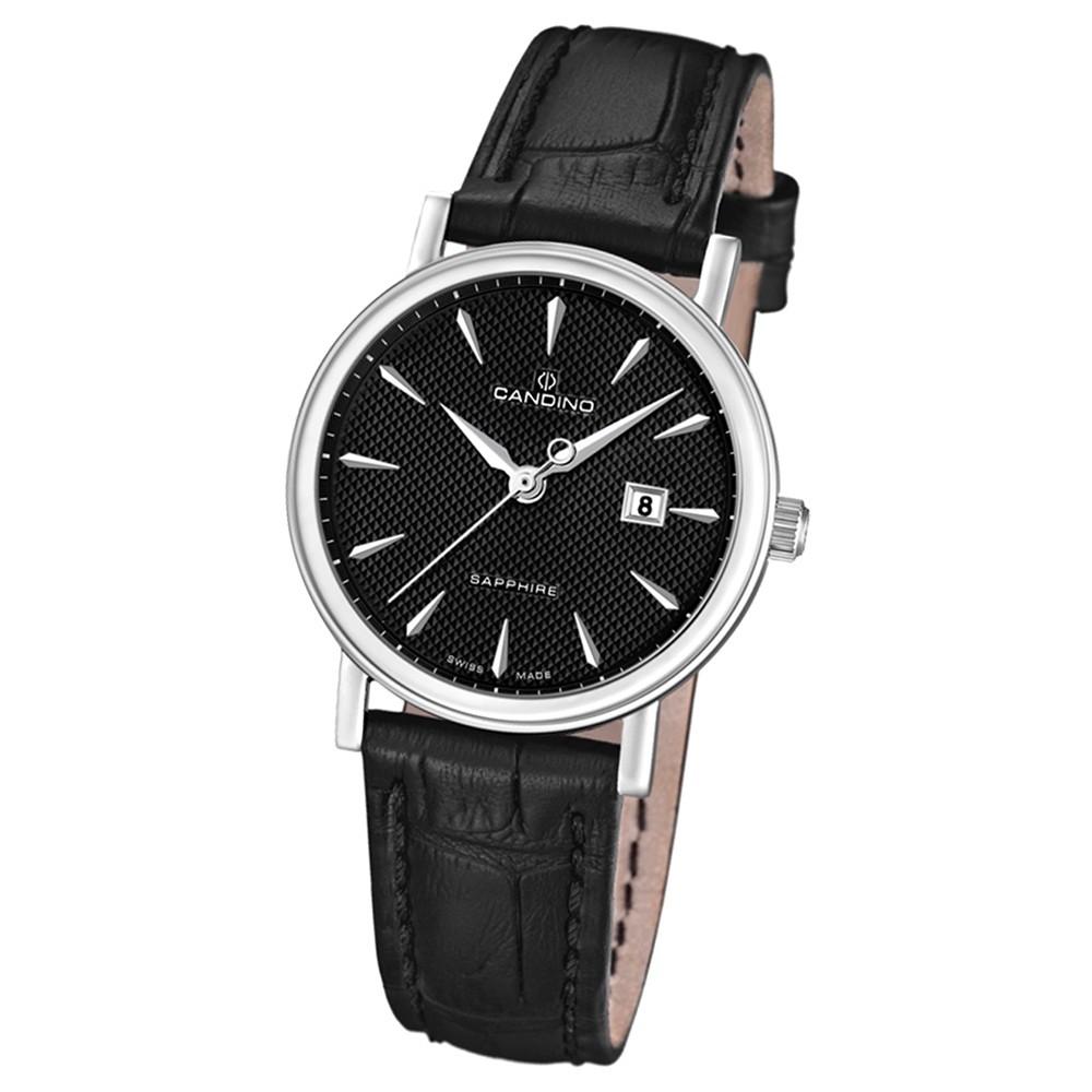 Candino Damen-Armbanduhr Timeless analog Quarz Leder UC4488/3