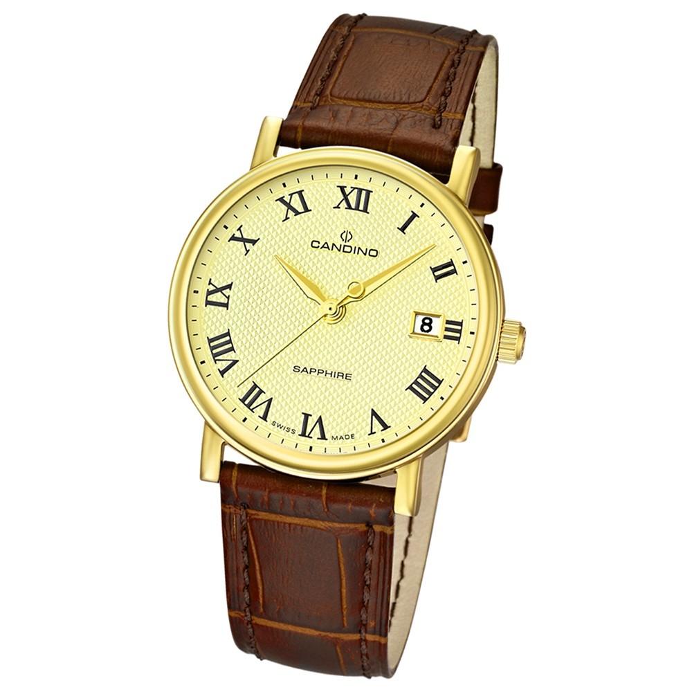 Candino Herren-Armbanduhr Timeless analog Quarz Leder UC4489/4