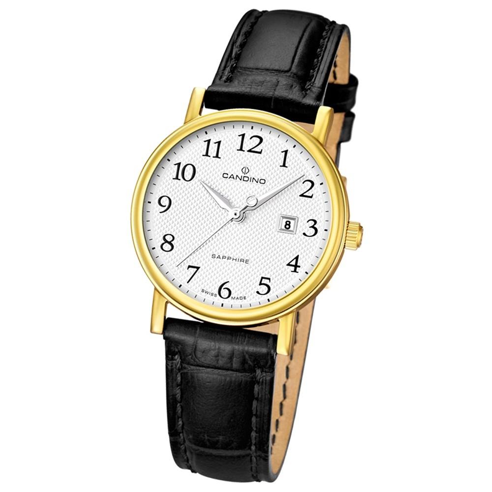 CANDINO Damenuhr Swiss Made Quarz Classic schwarz Saphirglas UC4490/5