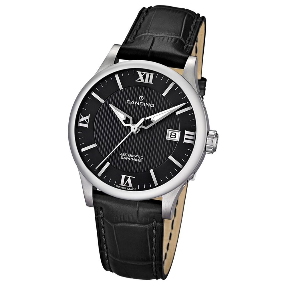 Candino Herren-Armbanduhr Timeless analog Automatik Leder UC4494/4