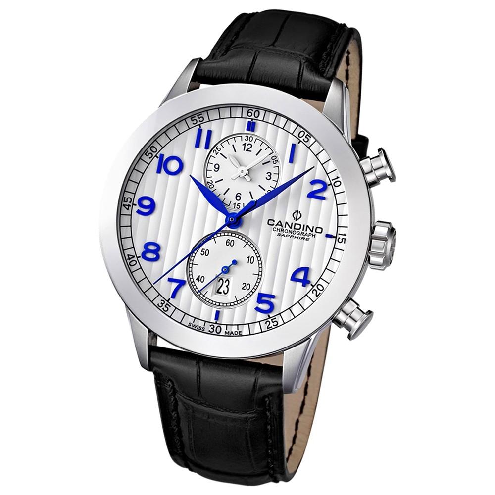 Candino Herren-Armbanduhr Athletic Chic Chronograph Quarz Leder UC4505/1