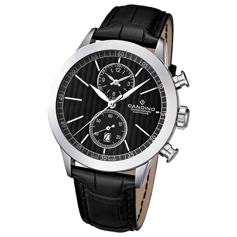 Candino Herren-Armbanduhr Athletic Chic Chronograph Quarz Leder UC4505/4