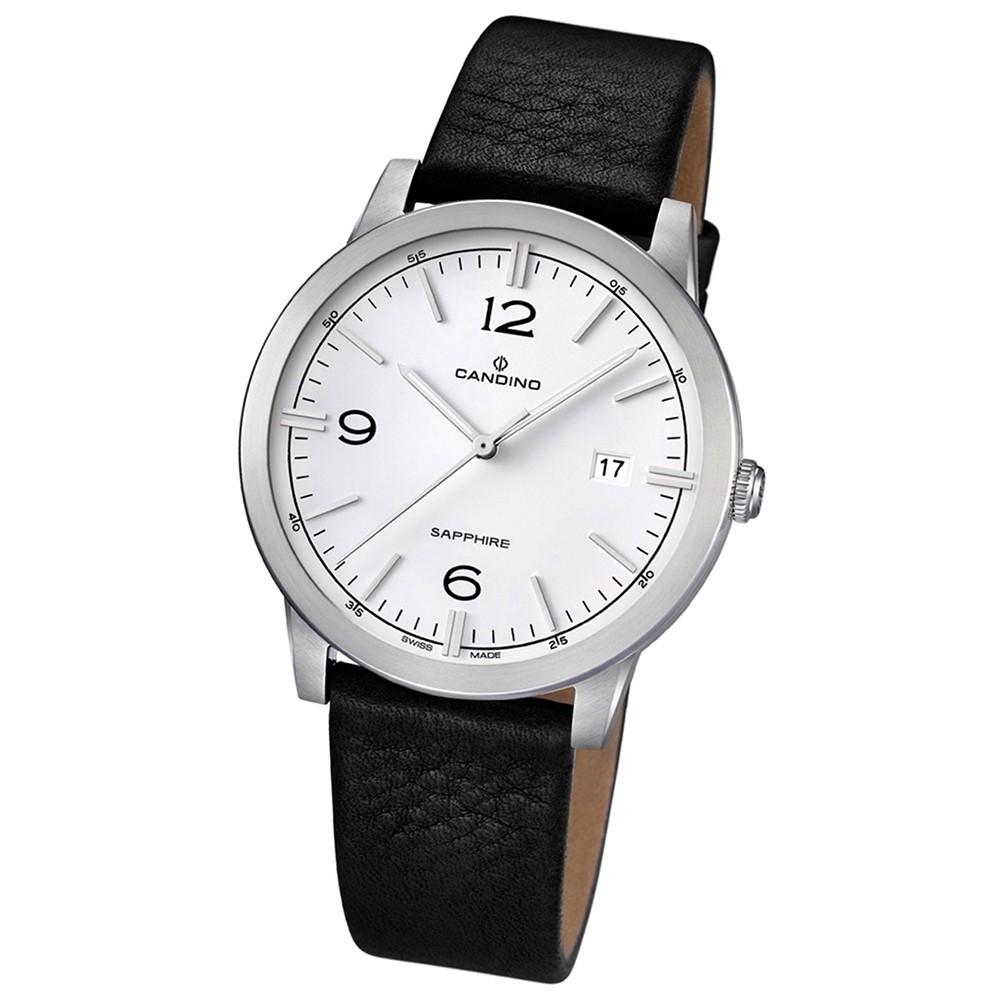 Candino Herren-Armbanduhr Timeless analog Quarz Leder UC4511/1