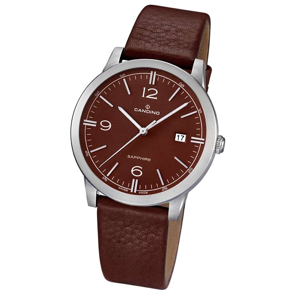 Candino Herren-Armbanduhr Timeless analog Quarz Leder UC4511/3
