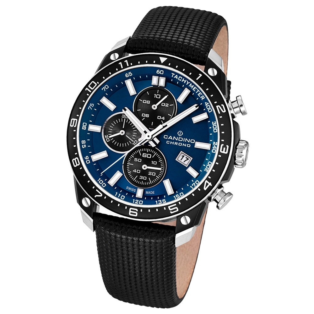 Candino Herren-Armbanduhr Athletic Chic Chronograph Quarz Leder UC4520/2