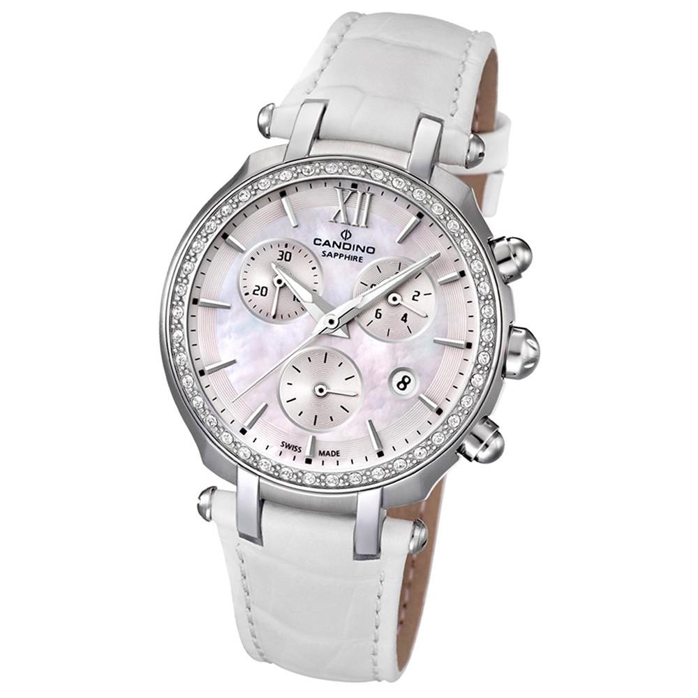 Candino Damen-Armbanduhr Athletic Chic Chronograph Quarz Leder UC4522/1