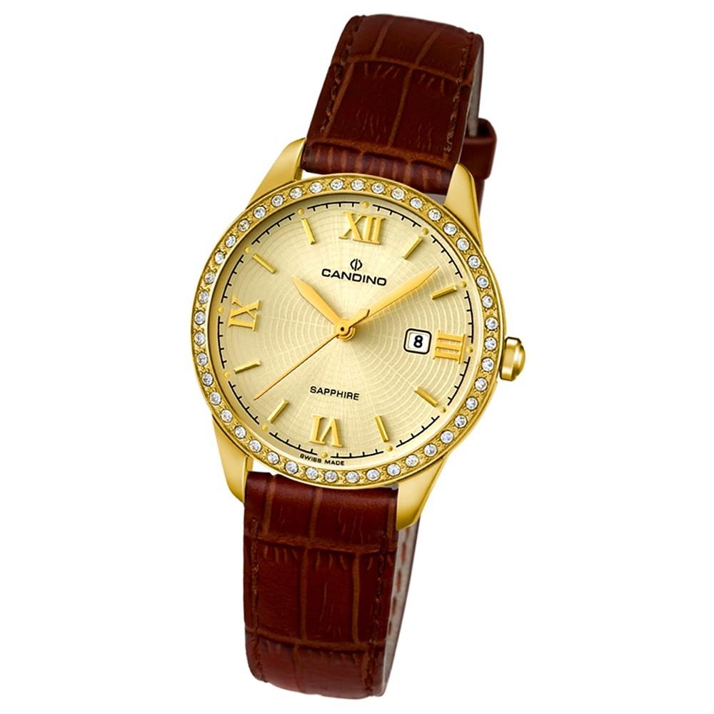 Candino Damen-Armbanduhr Timeless analog Quarz Leder UC4529/2