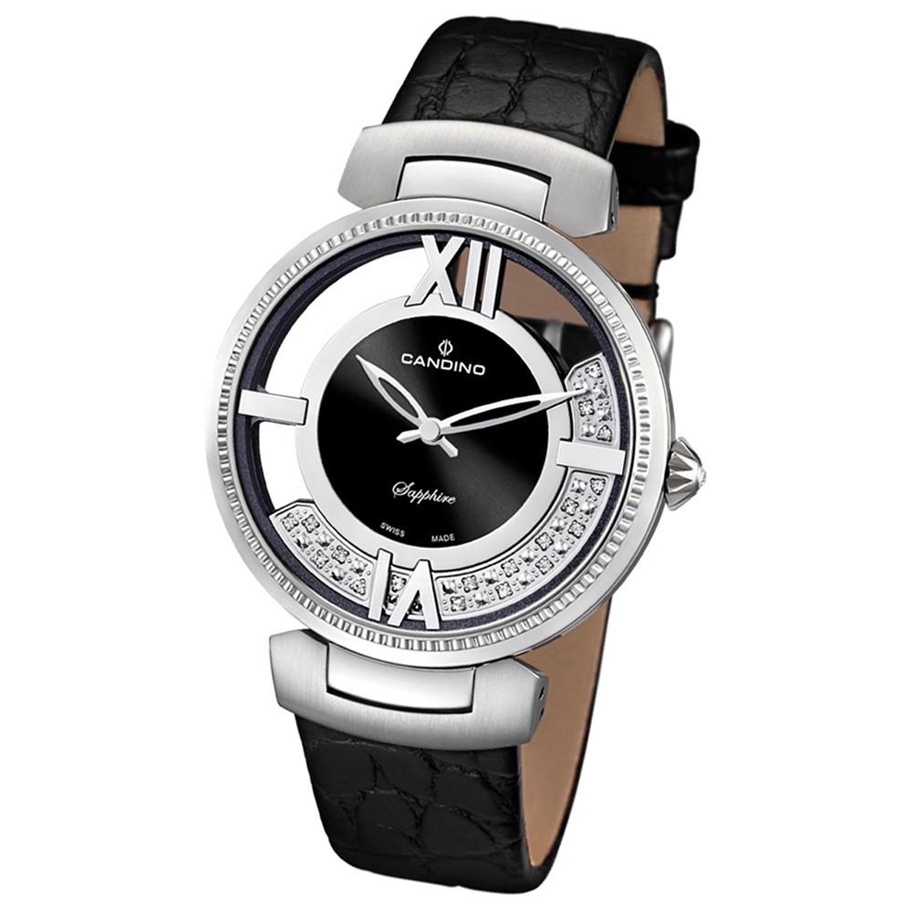 Candino Damen-Armbanduhr Timeless analog Quarz Leder UC4530/2