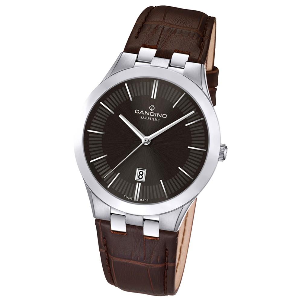 Candino Herren-Armbanduhr Timeless analog Quarz Leder UC4540/3