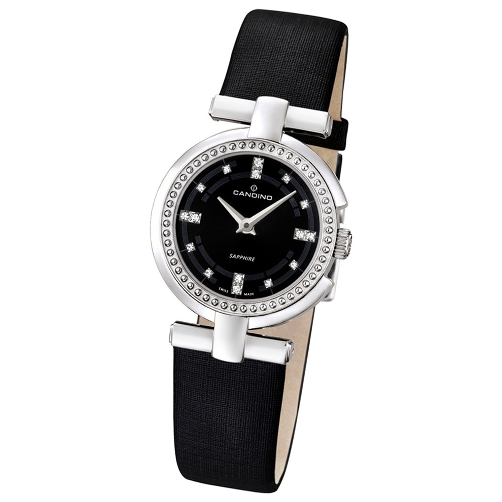 CANDINO Damen-Uhr - Elegance Flair - Analog - Quarz - Leder/Textil - UC4560/2