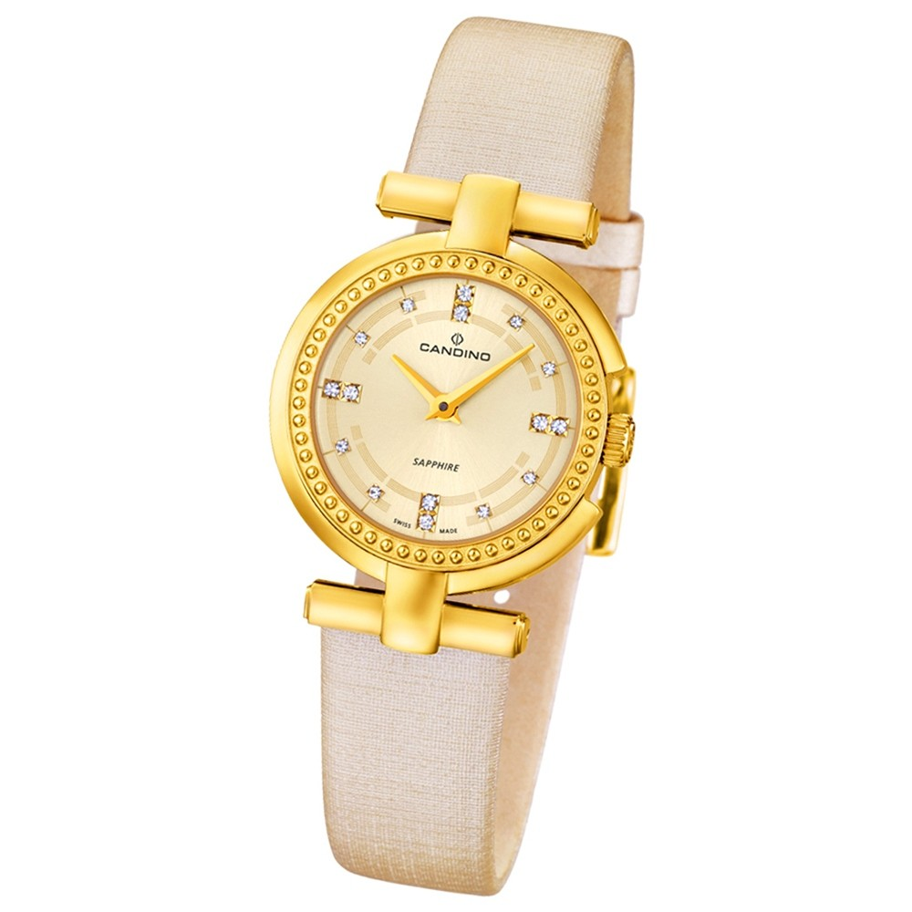 CANDINO Damen-Uhr - Elegance Flair - Analog - Quarz - Leder/Textil - UC4561/2