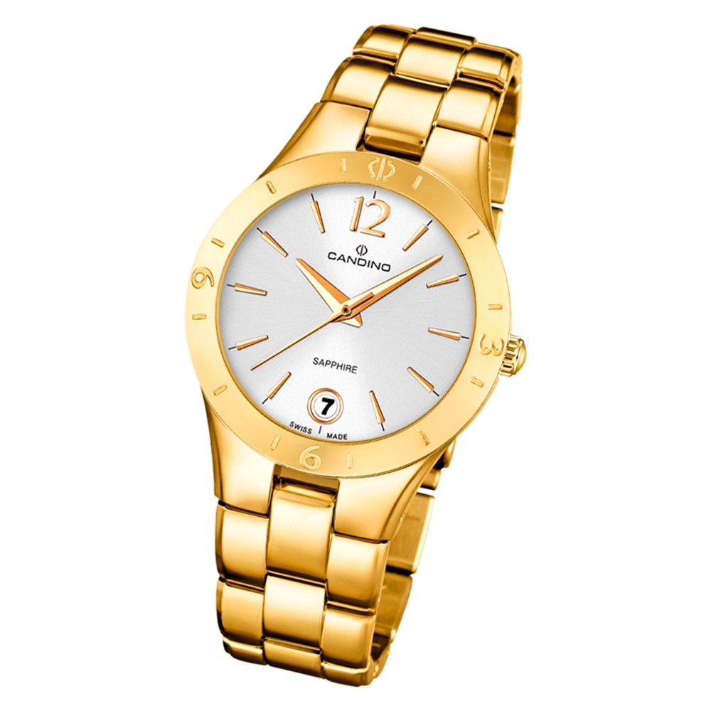 Candino Damen Armbanduhr Lady Elegance C4577/1 Quarz Edelstahl gold UC4577/1