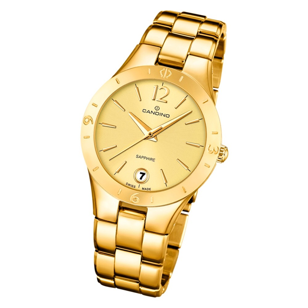 Candino Damen Armbanduhr Lady Elegance C4577/2 Quarz Edelstahl gold UC4577/2