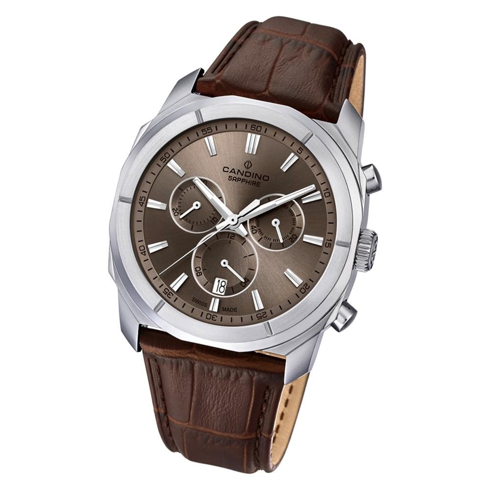 Candino Herren Armband-Uhr Casual Street Rider C4582/3 Leder braun UC4582/3