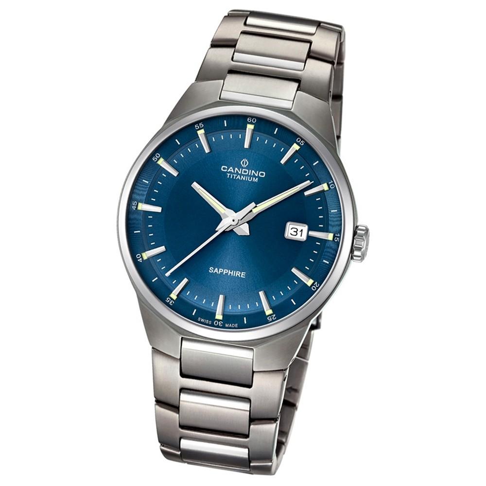 Candino Herren-Armbanduhr Titan silbergrau C4605/3 Quarzuhr Titanium UC4605/3