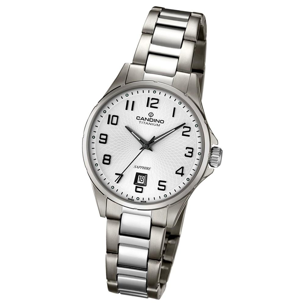 CANDINO Klassische Damen-Armbanduhr Elegance analog Quarz silbergrau UC4608/1