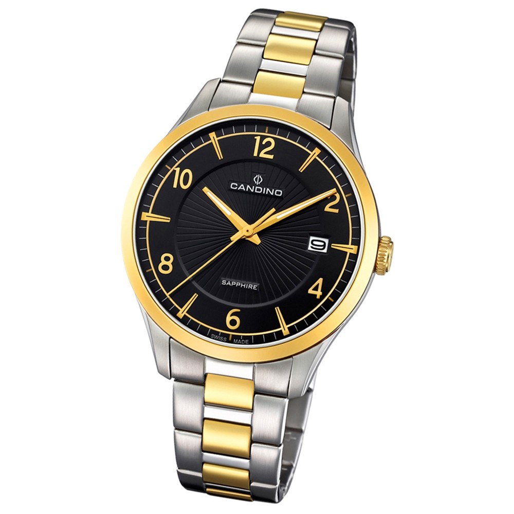 Candino Herren-Armbanduhr Edelstahl silber gold C4631/2 Quarz Klassisch UC4631/2
