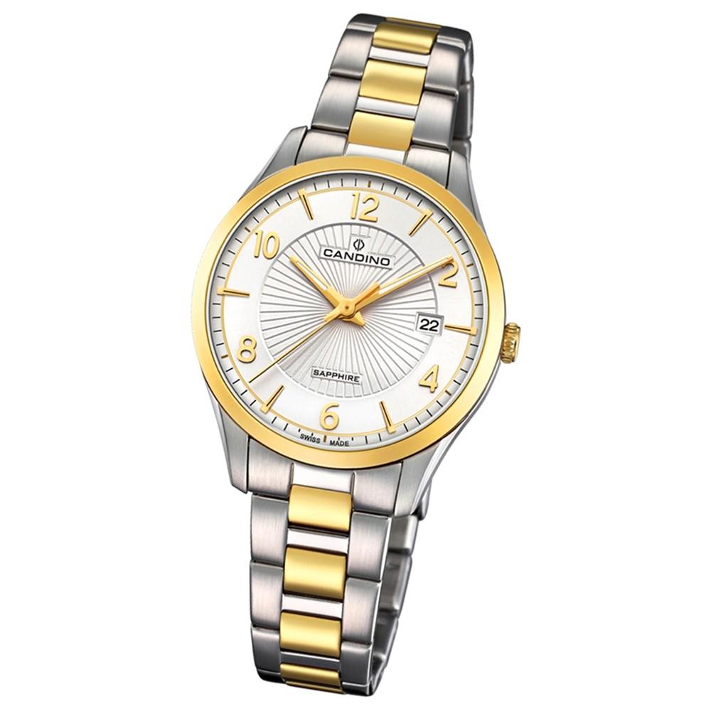 Candino Damen-Armbanduhr Edelstahl silber gold C4632/1 Quarz Klassisch UC4632/1