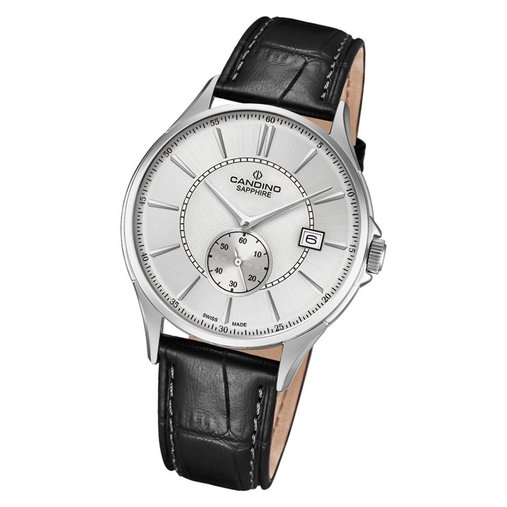 Candino Herren Armbanduhr Classic Timeless C4634/1 Quarz Leder schwarz UC4634/1