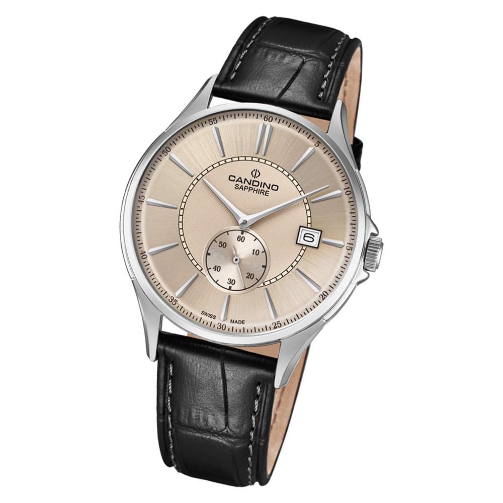 Candino Herren Armbanduhr Classic Timeless C4634/2 Quarz Leder schwarz UC4634/2