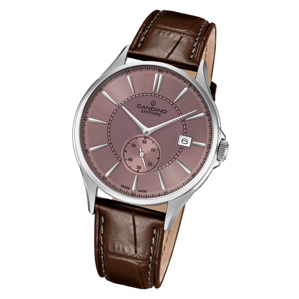 Candino Herren Armbanduhr Classic Timeless C4634/3 Quarz Leder braun UC4634/3