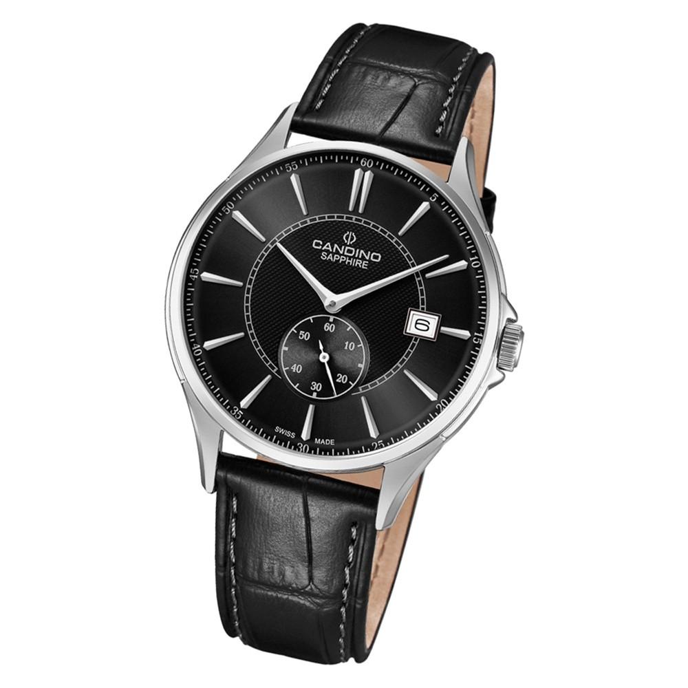 Candino Herren Armbanduhr Classic Timeless C4634/4 Quarz Leder schwarz UC4634/4