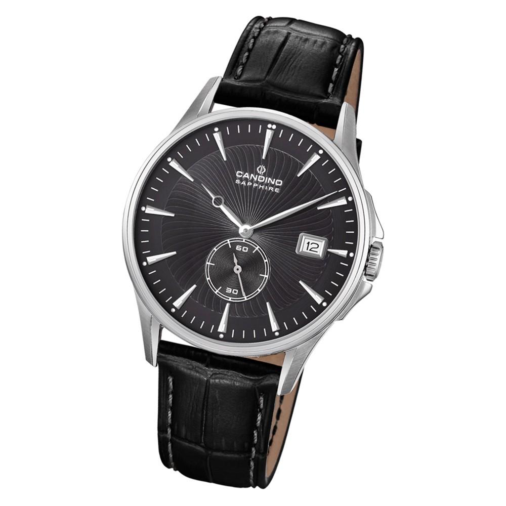 Candino Herren Armbanduhr Classic Timeless C4636/4 Quarz Leder schwarz UC4636/4
