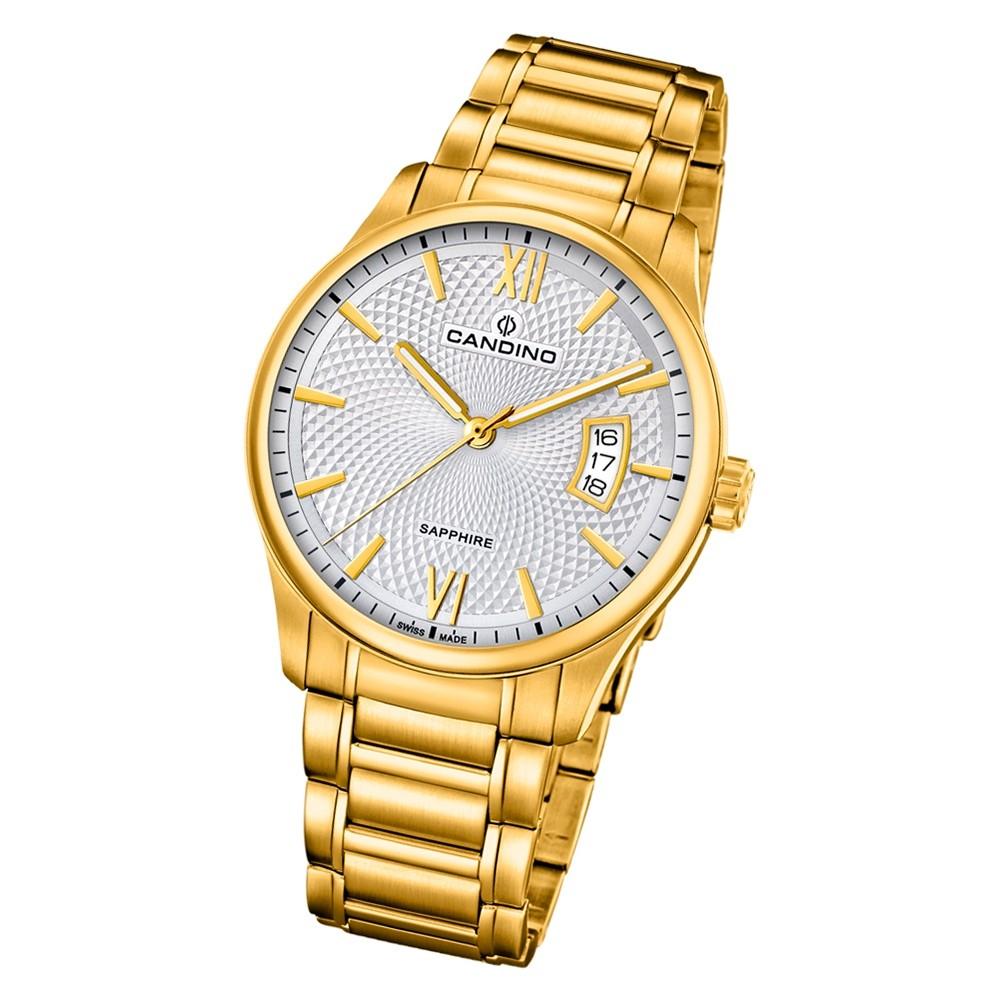 Candino Herren Armband-Uhr Classic Timeless C4692/1 Edelstahl gold UC4692/1