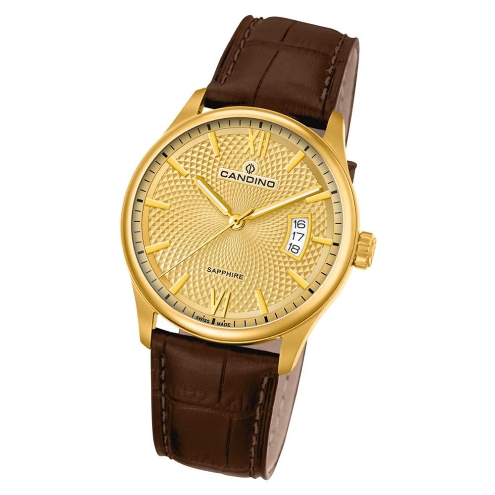 Candino Herren Armbanduhr Classic Timeless C4693/2 Quarz Leder braun UC4693/2