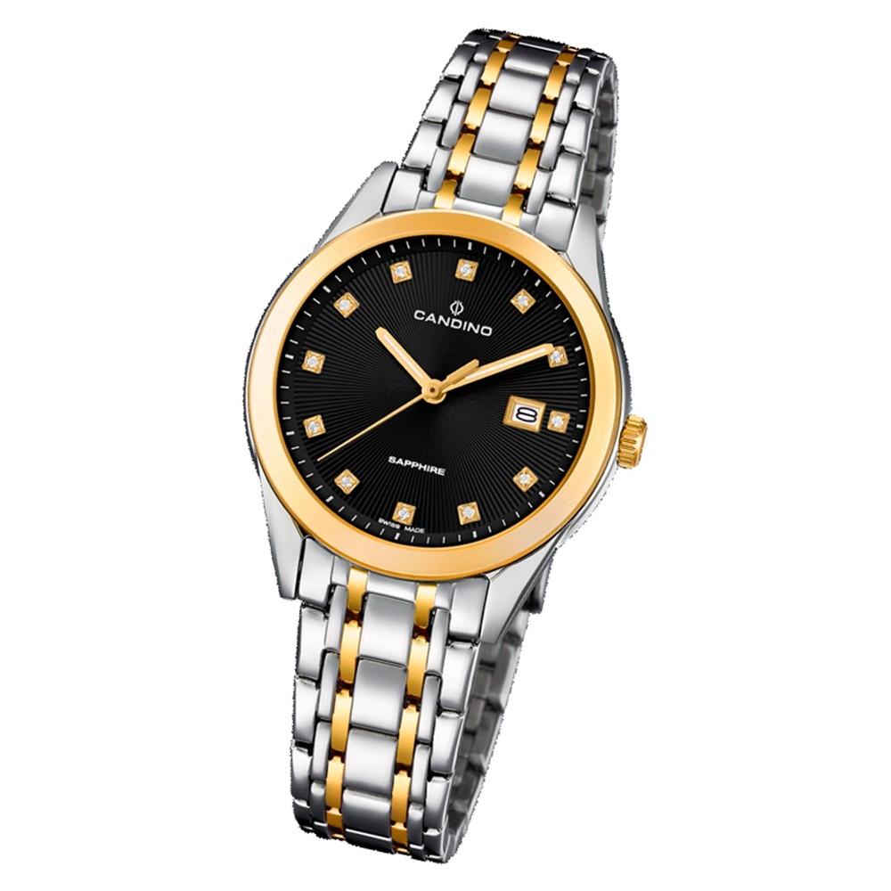 Candino Damen Armbanduhr Couple C4695/3 Quarz Edelstahl silber gold UC4695/3