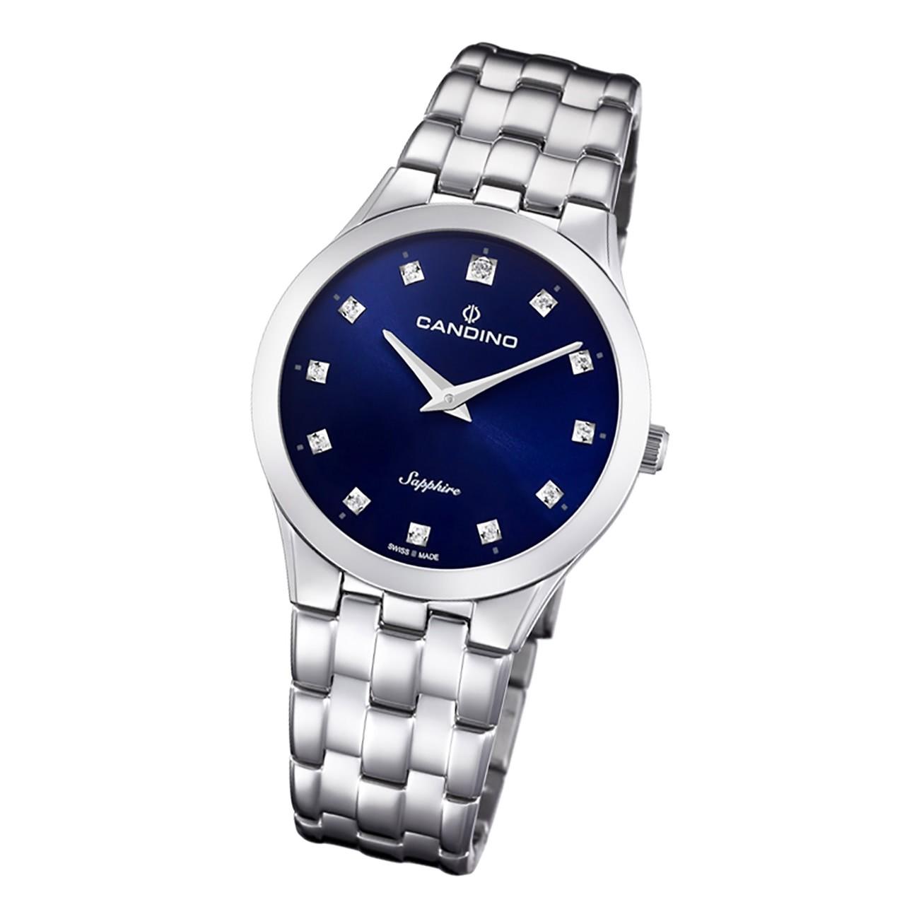 Candino Damen Armbanduhr Classic C4700/2 Analog Edelstahl silber UC4700/2