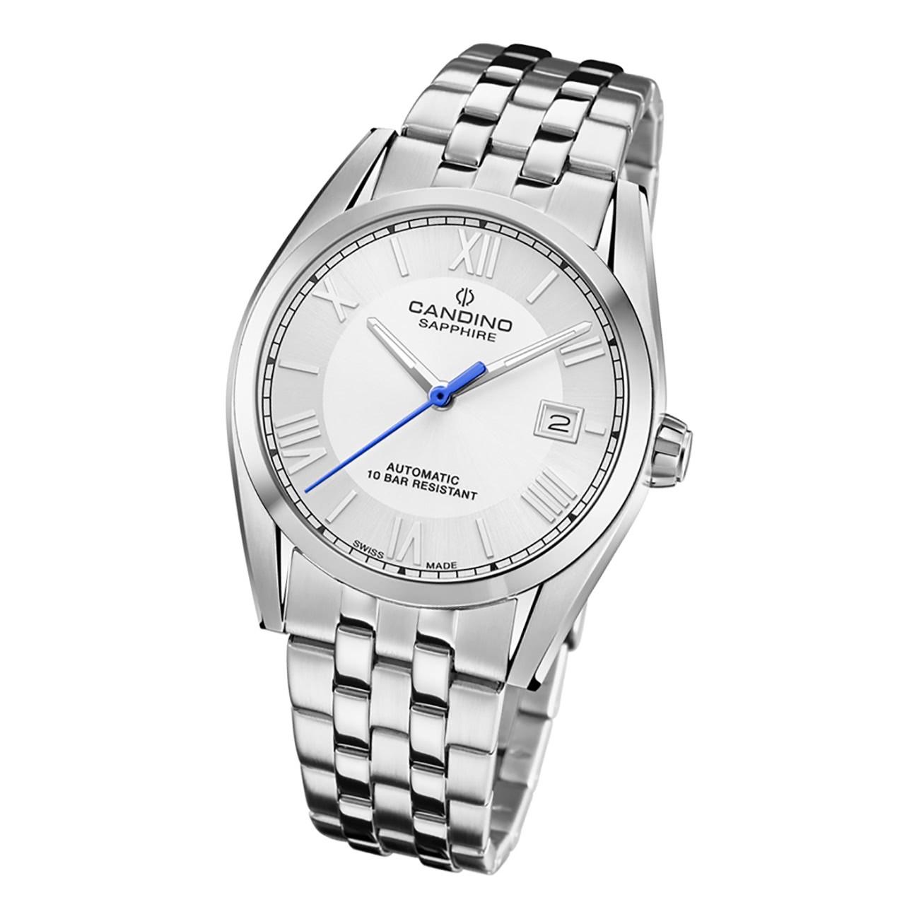 Candino Herren Armbanduhr Automatik C4701/1 Analog Edelstahl silber UC4701/1